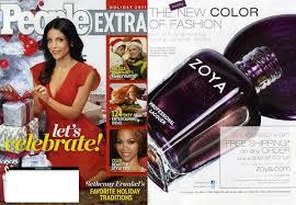 Zoya in de media, biologische nagellak, Zoya polish,